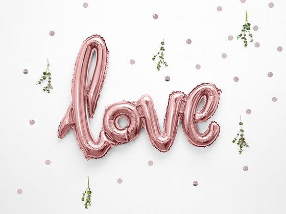 Rose Gold Foil Balloon - Love