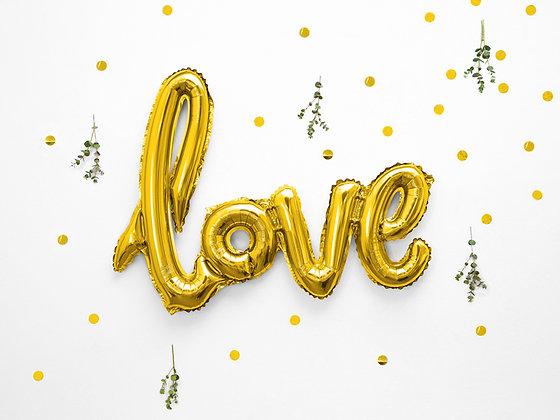 Gold Foil Balloon - Love