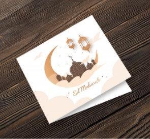 Eid Mubarak Sand & Moon Greeting Card