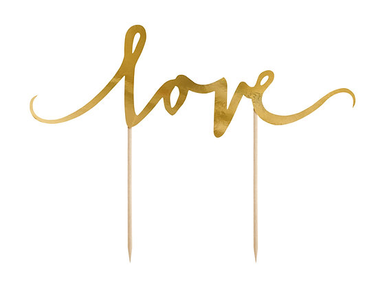 Gold 'Love' Cake Topper