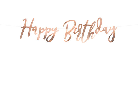 Rose Gold Happy Birthday Bunting