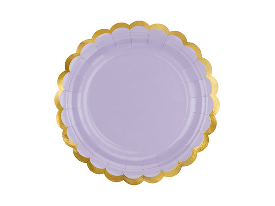 Lilac Plates 18cm - Pack of 6
