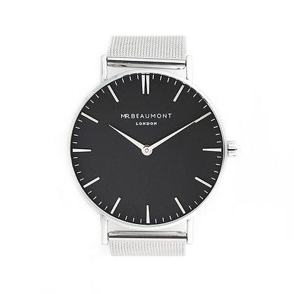 Mr Beaumont Men's Silver/Black Watch