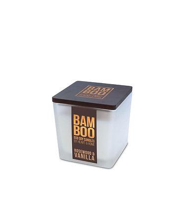 Bamboo Small Jar Candle - Rosewood  & Vanilla