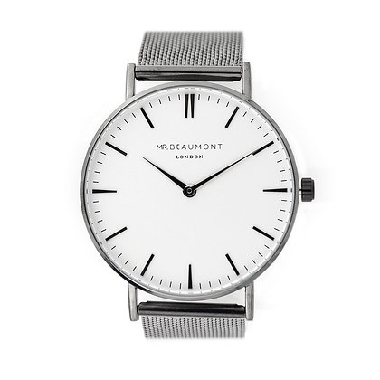 Mr Beaumont Men's Charcoal/White Watch
