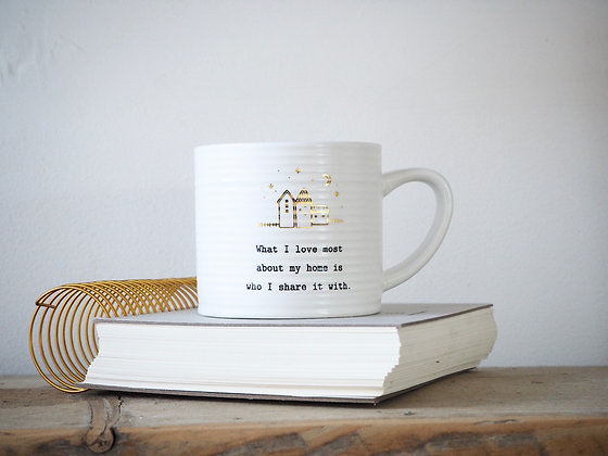 Thoughtful Words Mug - What I Love Most About My Home..