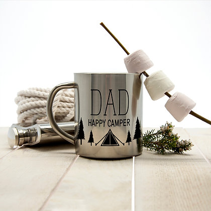 Personalised Happy Camper Outdoor Mug