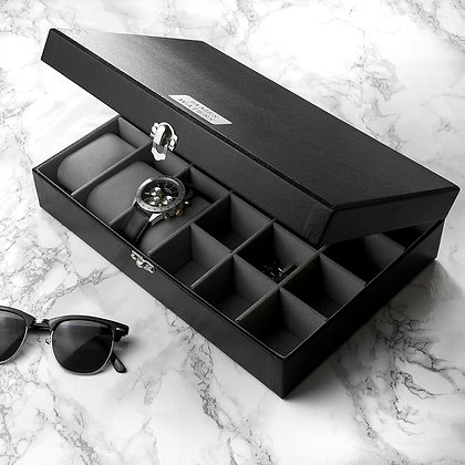 Personalised Watch &Cufflink Box