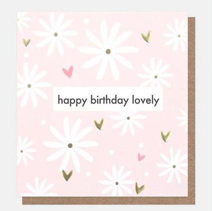 Card - Happy Birthday Lovely