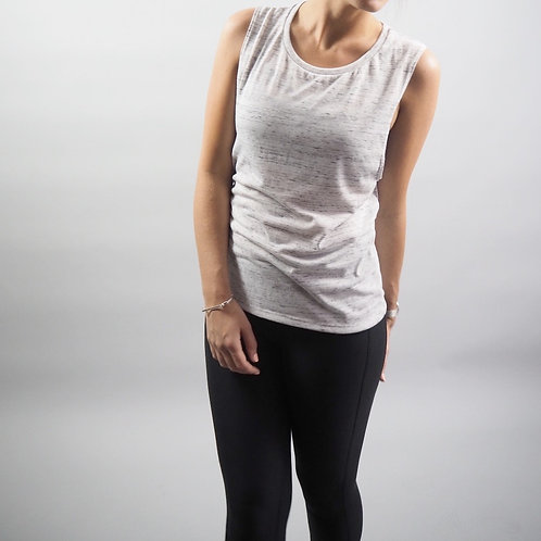 CASSELL WOMENS TANK -WHITE MARBLE