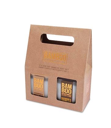 2 Small Jar Candles - Bamboo Gift Set