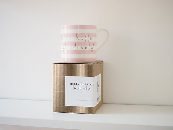 Belly Button Bubble 'Hello Lovely' China Mug