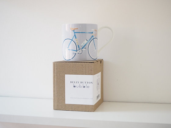 Belly Button Bubble 'Bicycle' China Mug