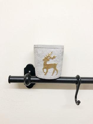 Gisela Graham Concrete Candle - Reindeer