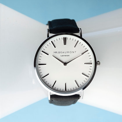 Mr Beaumont Men's White/Black Watch