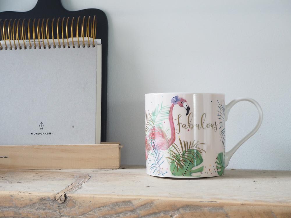 Belly Button fabulous flamingo mug