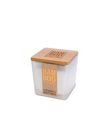 Bamboo Small Jar Candle - Cedarwood & White Musk