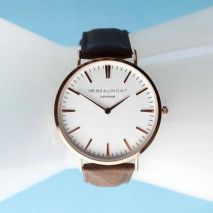 Mr Beaumont Men's White/Brown Watch