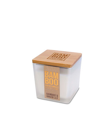 Bamboo Small Jar Candle - Bamboo & Ginger Lily