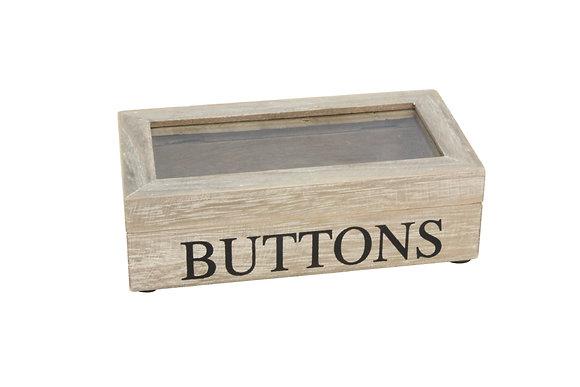 Wooden Buttons Box