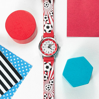 Personalised Red Football Watch