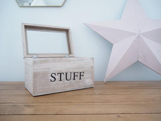 Natural Wood 'Stuff' Box
