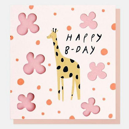 Card - Happy B-Day Giraffe
