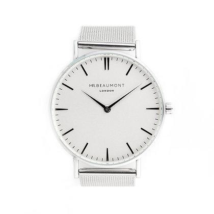 Mr Beaumont Men's Silver/White Watch