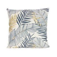 Gisela Graham Monochrome Palm Print Cushion With Pad
