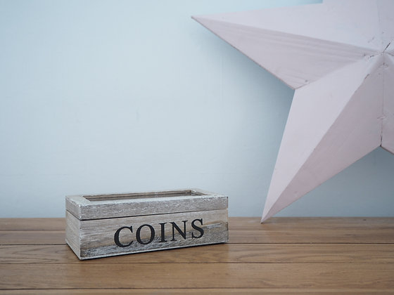 Wooden Coins Box
