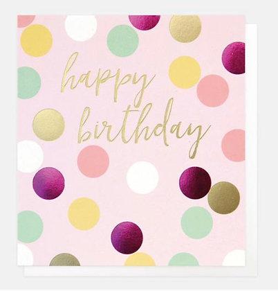 Card - Happy Birthday Spots