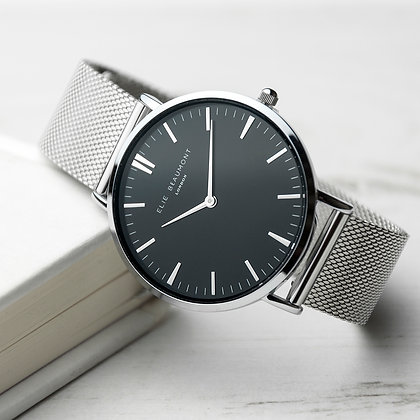 Elie Beaumont Silver/Black Watch