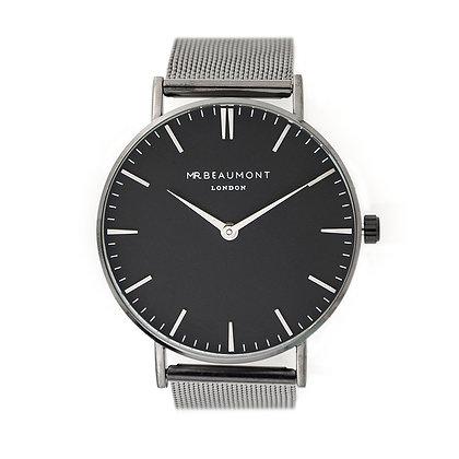 Mr Beaumont Men's Charcoal/Black Watch