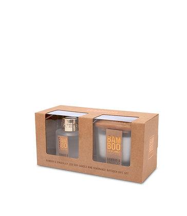 Small Jar & Mini Diffuser - Bamboo Gift Set