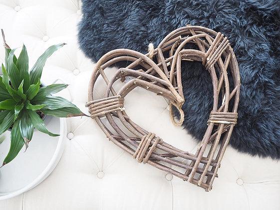 Woven Heart Wreath - Small
