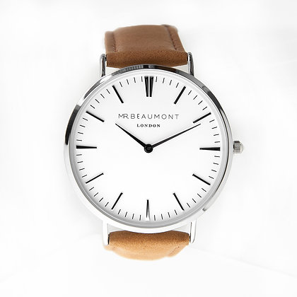 Mr Beaumont Men's White/Camel Watch