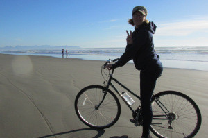 Riding on the Oregon Coast