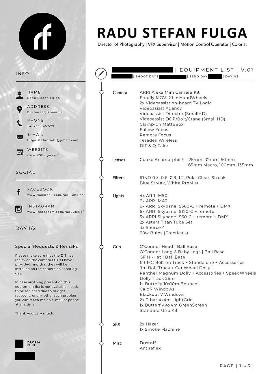 Equipment List - Samsung Note 10 - Studi