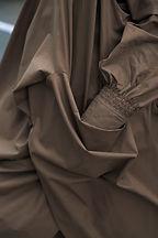 Nolwenn Faligot - Displaced 2016 - CSM - Masters - Central Saint Martins - khaki dress - military - drape - smock