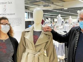 Nolwenn Faligot, styliste, expose ses créations avec Armor-Lux
