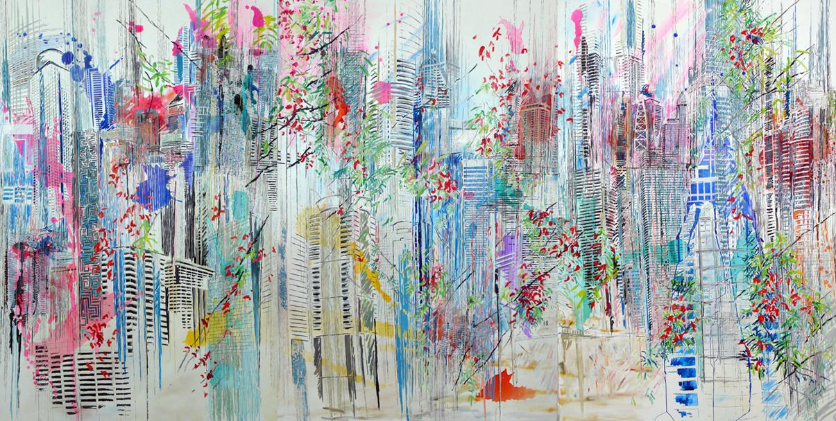 Prismatic City (triptych)