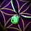 Thumbnail: Bracelet artisanal en cuir et médaillon Mohave green turquoise