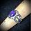 Thumbnail: Bague artisanale en plaqué argent avec Mohave Turquoise