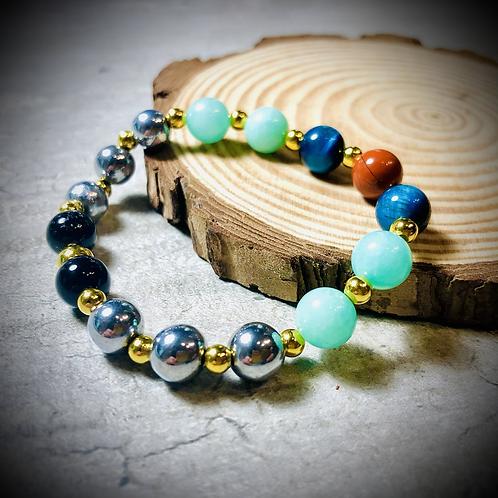 Bracelet artisanal perles semi précieuses