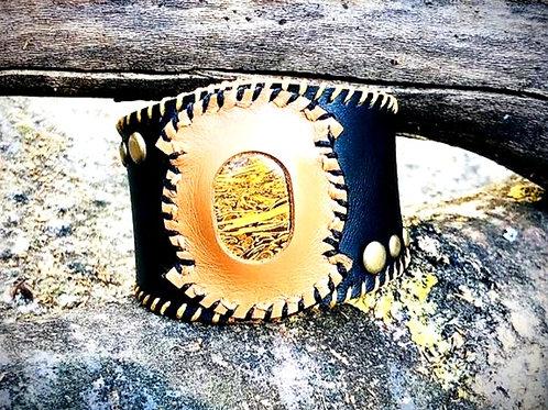 Bracelet Cuir noir et Jaspe Mariam