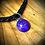 Thumbnail: Bracelet artisanal en cuir et Mohave purple turquoise