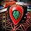 Thumbnail: Bracelet artisanal en cuir et Azurite/ Chrysocole