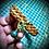 Thumbnail: Bracelet cuir tressé et médaillon Malachite