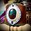 Thumbnail: Bracelet artisanal en cuir avec Cuprite Chrysocole
