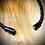 Thumbnail: Bracelet artisanal en cuir et LABRADORITE